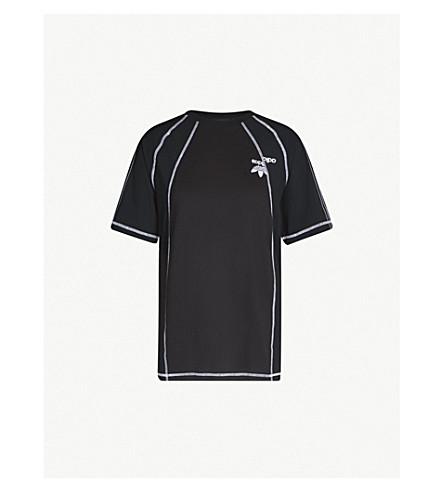 Logo X And Embroidered T Wang Alexander Cotton Shirt Satin Adidas Kd6td