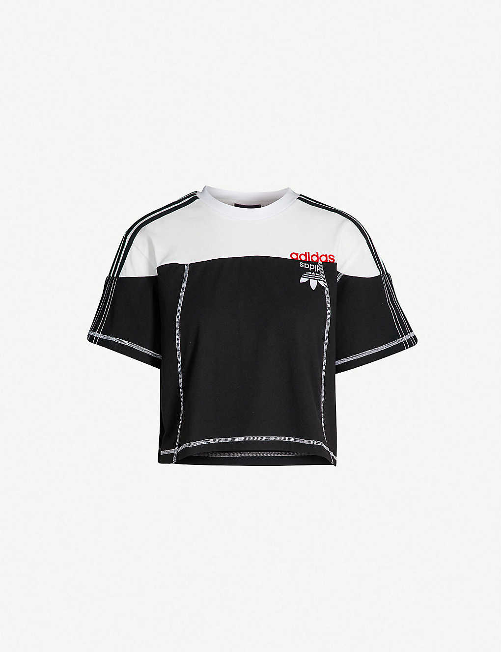 58ffc02eaff7 ADIDAS X ALEXANDER WANG - Disjoin cotton-jersey crop top ...
