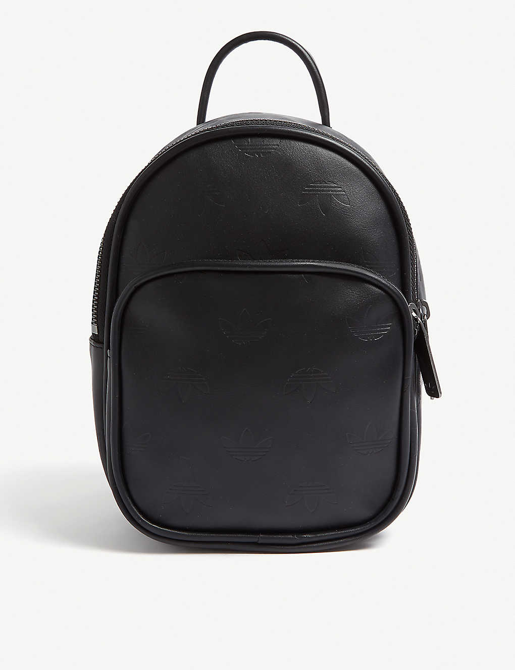 84657ec0540c ADIDAS ORIGINALS - Embossed logo mini leather backpack