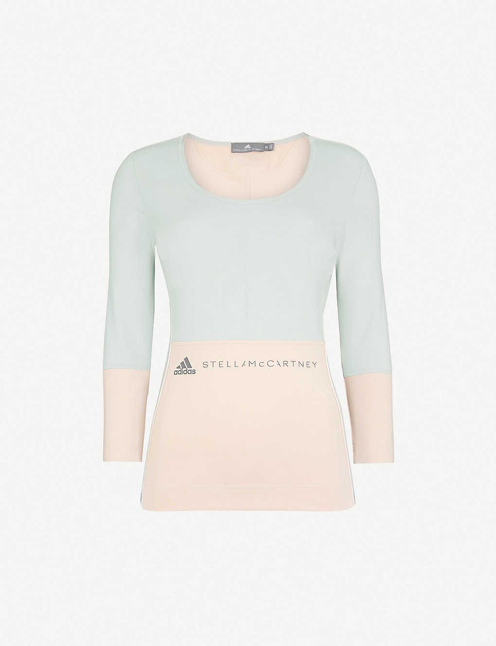 87be64b70ce ADIDAS BY STELLA MCCARTNEY - Yoga Comfort stretch-jersey top ...