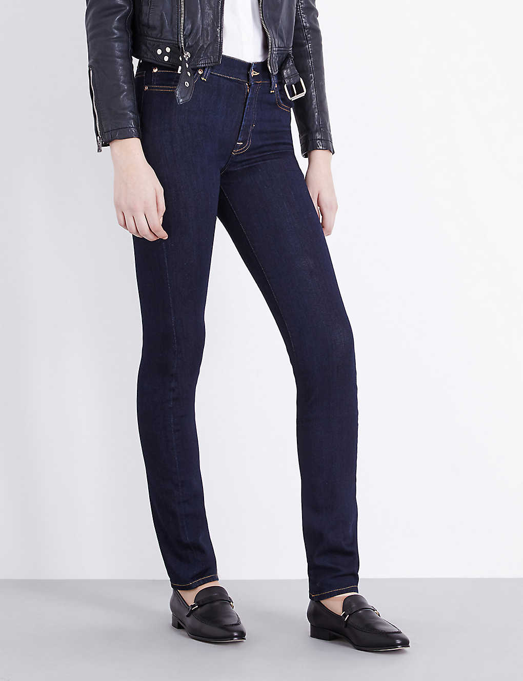 7 FOR ALL MANKIND - Rozie slim illusion super-skinny high-rise jeans ... 58785b293