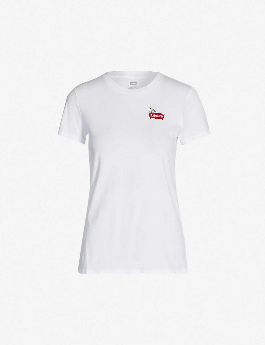02ac6db872c60 LEVI S - Perfect tee snoopy logo-print cotton-jersey T-shirt ...