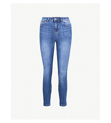 Super Spray On Cropped Skinny High Rise Jeans by Hera