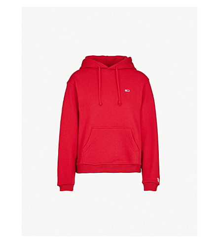 Logo Embroidered Cotton Blend Hoody by Tommy Jeans