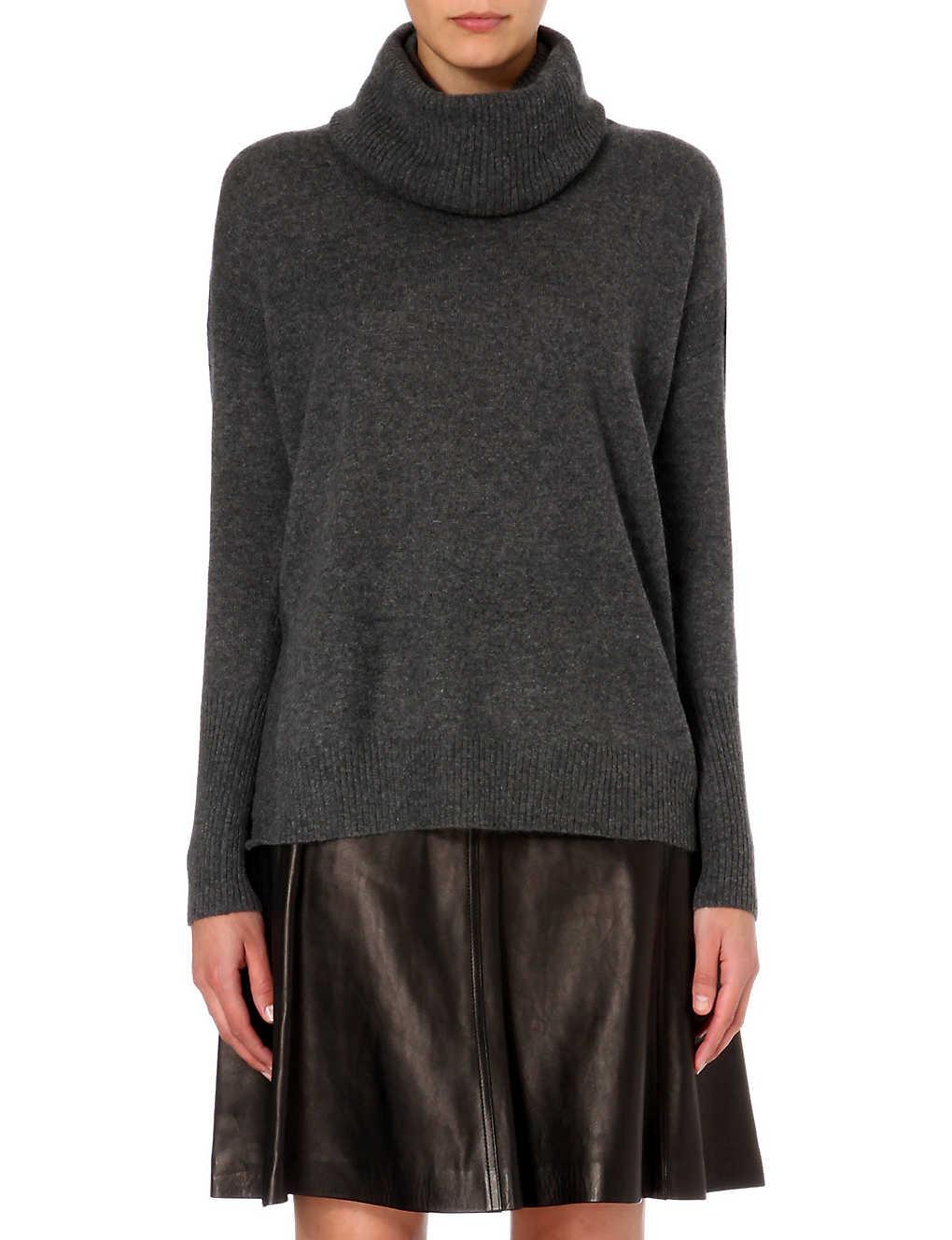 DIANE VON FURSTENBERG Turtleneck cashmere jumper (Grey