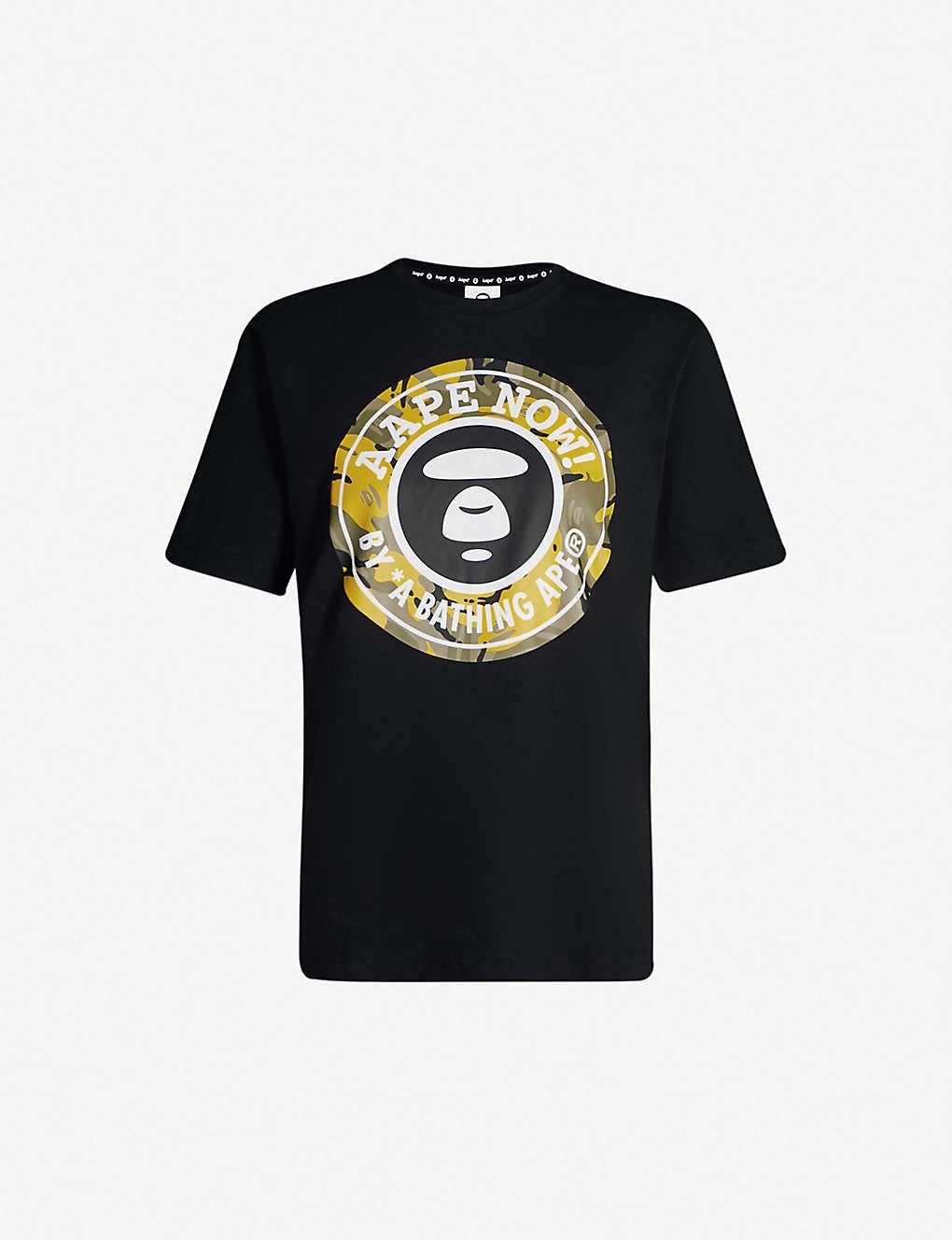 AAPE - Aape Now logo-print cotton-jersey T-shirt  7b884ccee