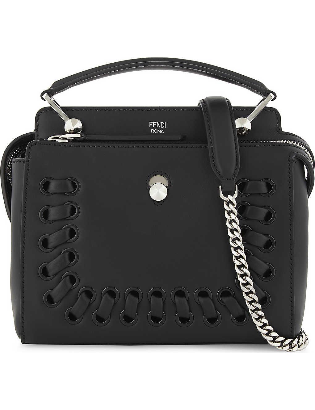 FENDI - Dotcom leather cross-body bag  a0789786b2960