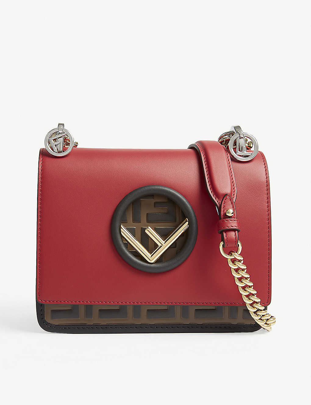 FENDI - Fendi Kan I logo small leather cross-body bag   Selfridges.com 1253fb231b