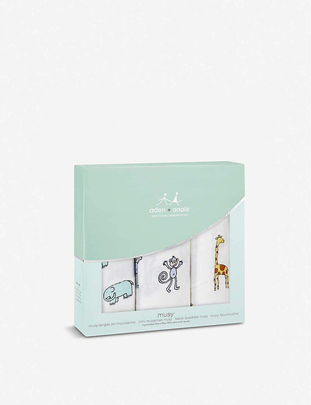 ADEN + ANAIS - Set of three Jungle Jam muslin cloths | Selfridges.com