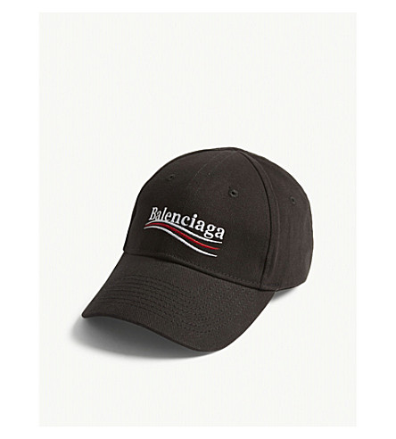 BALENCIAGA - Bernie logo cotton strapback cap  72d9e415216