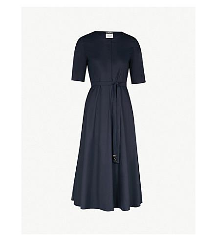 S Max Mara Ornella Tie Waist Stretch Cotton Dress Selfridges