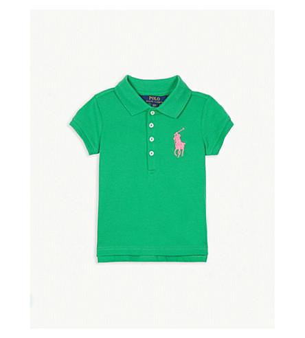 Ralph Lauren Logo Cotton Blend Polo Shirt 2 4 Years Selfridges Com