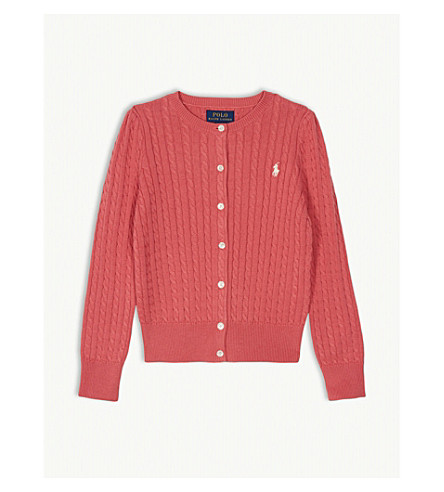 dd122738ba RALPH LAUREN Cable knit cotton cardigan 5-6 years