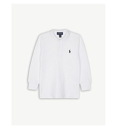 Ralph Lauren Logo Long Sleeve Cotton Polo Shirt 2 7 Years