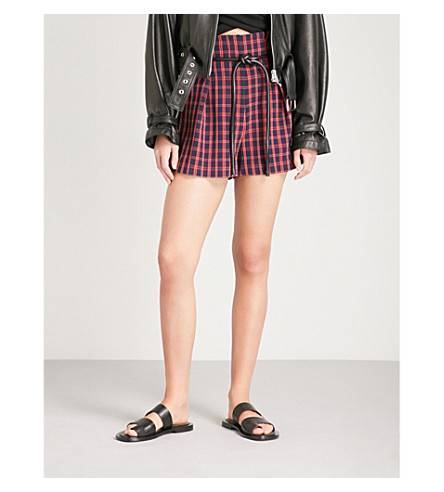 3.1 Phillip Lim belted check shorts Sneakernews Cheap Price Low Shipping Fee Natural And Freely Clearance Pay With Visa KsAGFj9