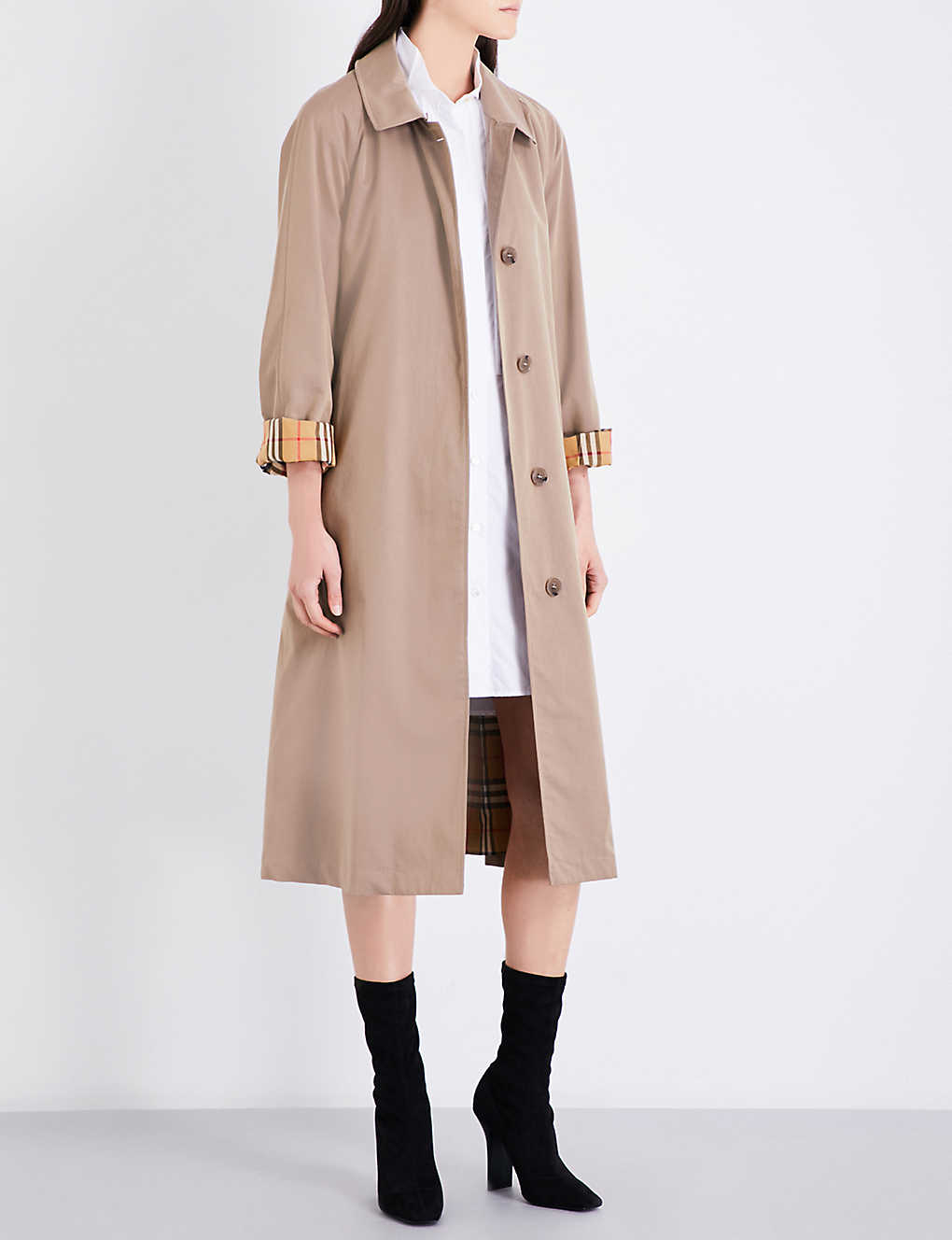 High Quality Sale Online The Brighton Cotton-gabardine Trench Coat - Beige Burberry Sale Pick A Best Cheap 100% Original MOiagm3
