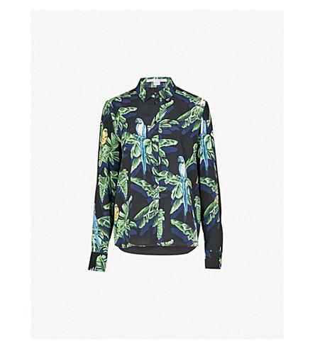 Stella McCartney Parrot-Print Silk Shirt