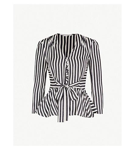 Multi Stripe Tie Waist Top