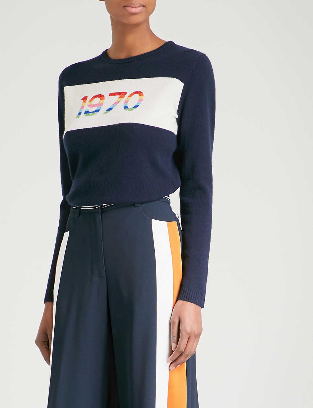 BELLA FREUD 1970 Rainbow cashmere-blend jumper
