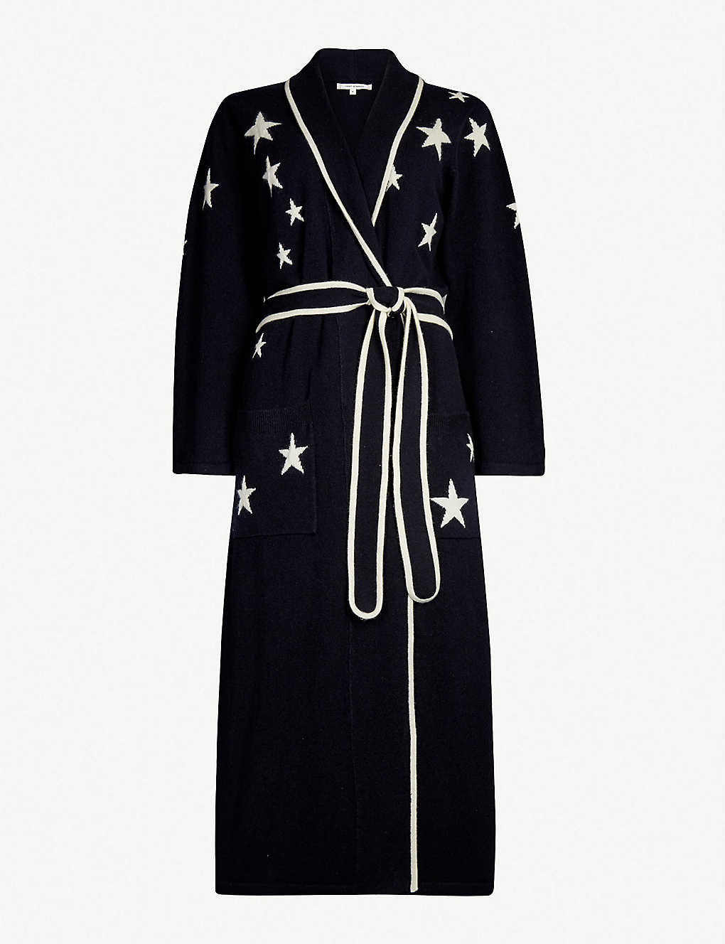 c447f9ab73 CHINTI AND PARKER - Star-intarsia cashmere dressing gown ...