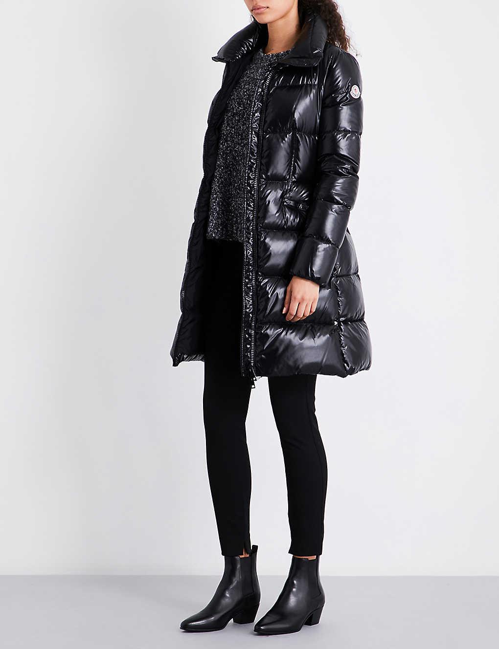 MONCLER Jasminum longline quilted down jacket - Womens Designer Coats - Capes, Trench Coats & MoreSelfridges