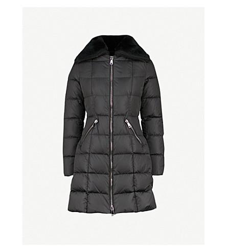 Davidia Shearling Collar Shell Down Jacket by Moncler