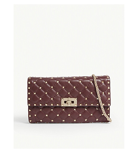 VALENTINO - Rockstud quilted leather cross-body bag   Selfridges.com fd3edbb2f0