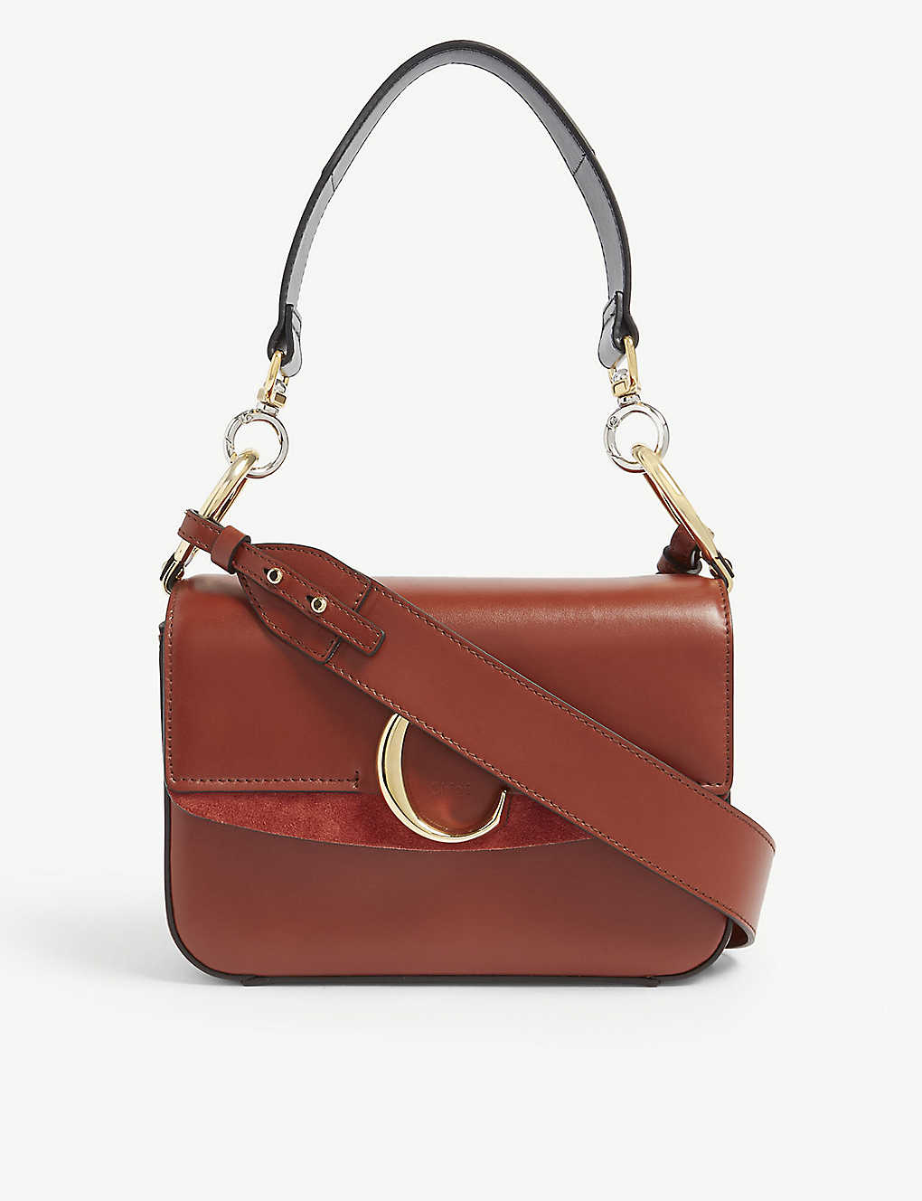 56eacd412547 CHLOE - C small leather shoulder bag