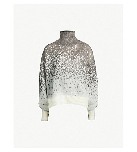 Faded Pattern Mohair And Alpaca Blend Turtleneck Sweater by Isabel Benenato