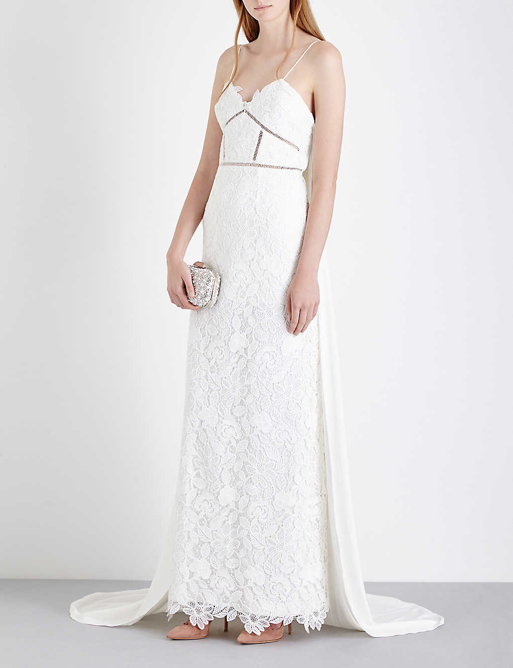 SELF-PORTRAIT - Angelica guipure-lace wedding dress | Selfridges.com