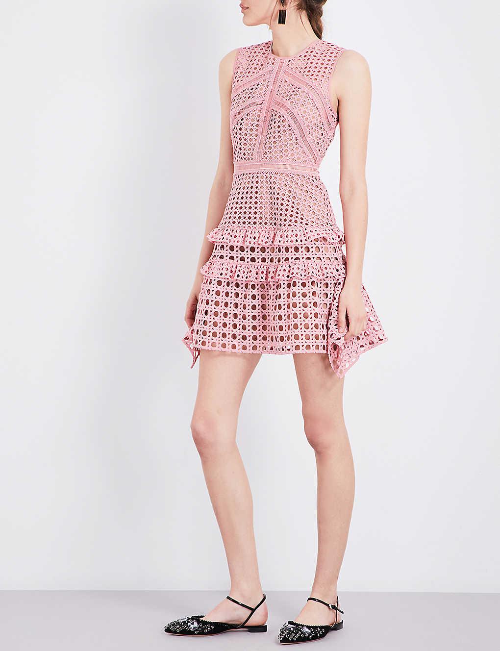 Christmas dress attire for age 57 - Self Portrait Frilled Lace Mini Dress