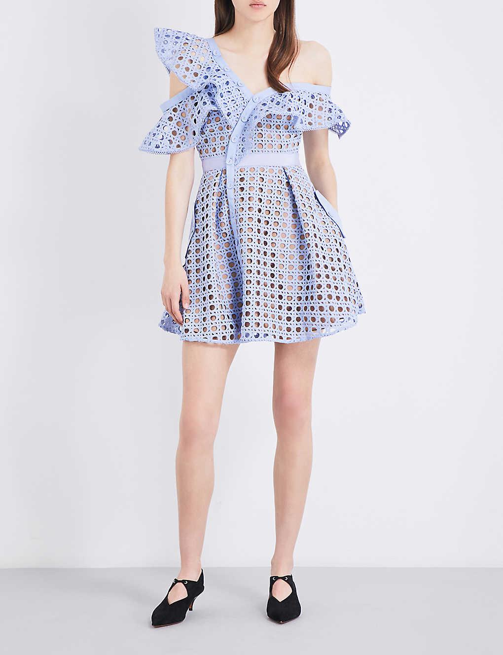 Christmas dress attire for age 57 - Self Portrait Guipure Frill Mini Dress