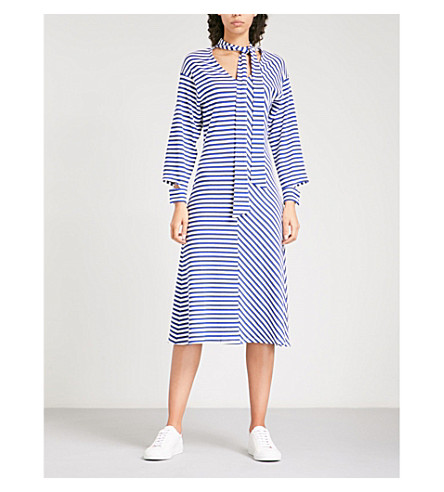 Cheam Blue Striped Jersey Dress Finery Outlet High Quality nT1lfDPX
