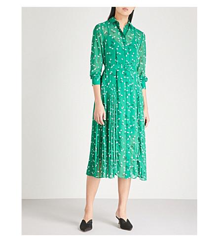 Gabriella Floral Print Chiffon Midi Shirt Dress by Kitri