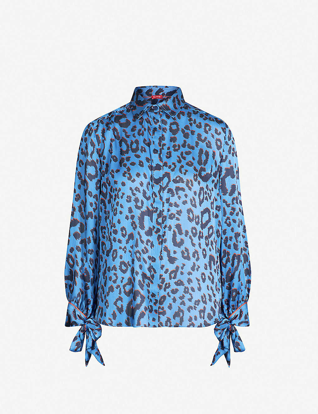 eeeef303725ff4 KITRI - Antonia leopard-print satin shirt