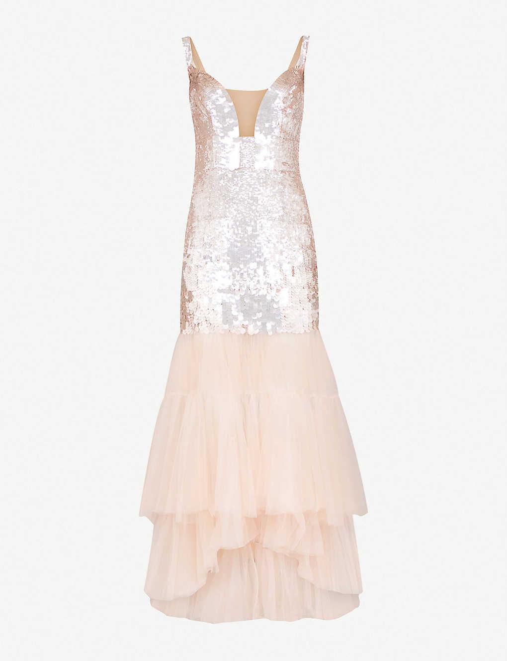 d2e852d08d4a TEMPERLEY LONDON - Bardot sequinned and tulle dress