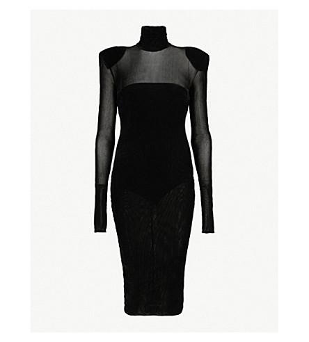 08c51d3879 ... ALEXANDRE VAUTHIER High-neck velvet midi dress (Black. PreviousNext