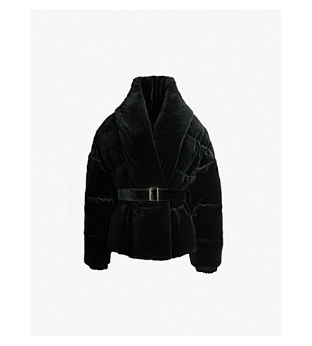 Velvet Down Puffer Jacket by Alexandre Vauthier