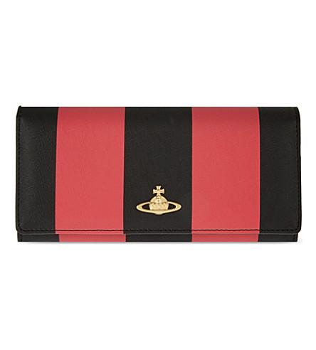santa-monica-stripe-saffiano-leather-flap-purse by vivienne-westwood