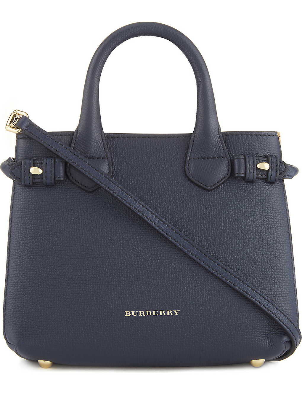 763a823acc4e BURBERRY - Banner check trim baby leather tote