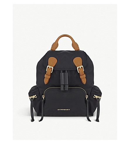 Small Nylon Backpack by Burberry