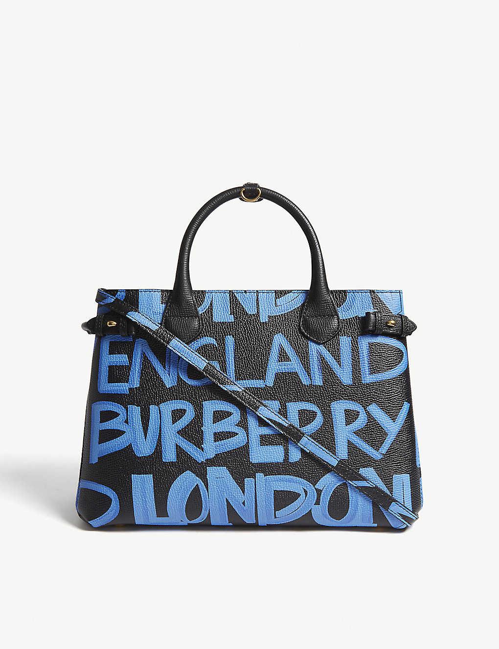 346bd77deeb8 BURBERRY - Banner graffiti medium leather tote