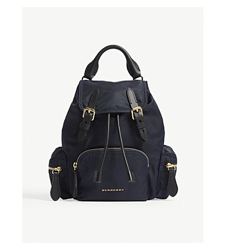 Small Nylon Cross Body Rucksack by Burberry