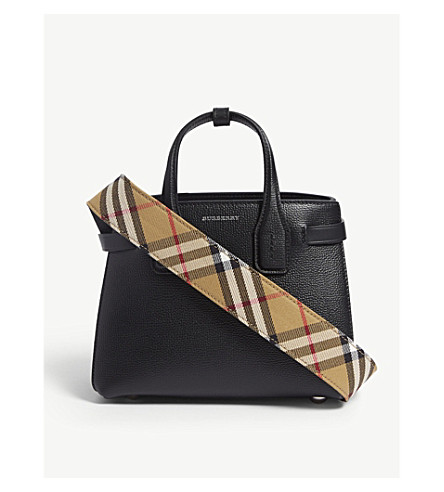 69543bc6392a ... BURBERRY Small Banner tote (Black. PreviousNext