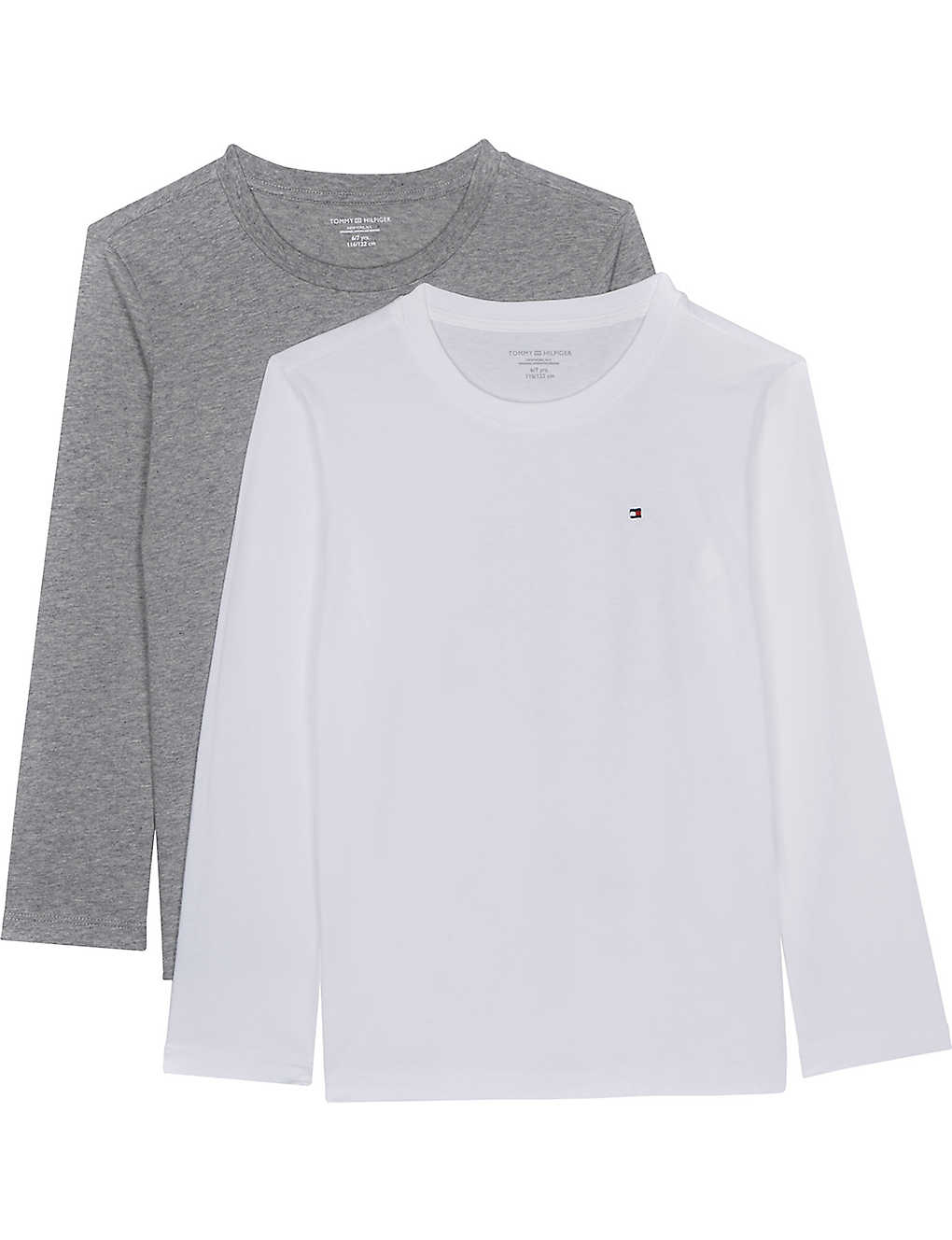 9e0984912079d TOMMY HILFIGER - Icon long-sleeved cotton T-shirts pack of two 4-16 ...