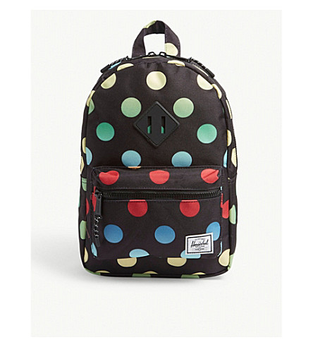 b956c8d3ee ... HERSCHEL SUPPLY CO Heritage multi-coloured dots backpack (Black+polka.  PreviousNext