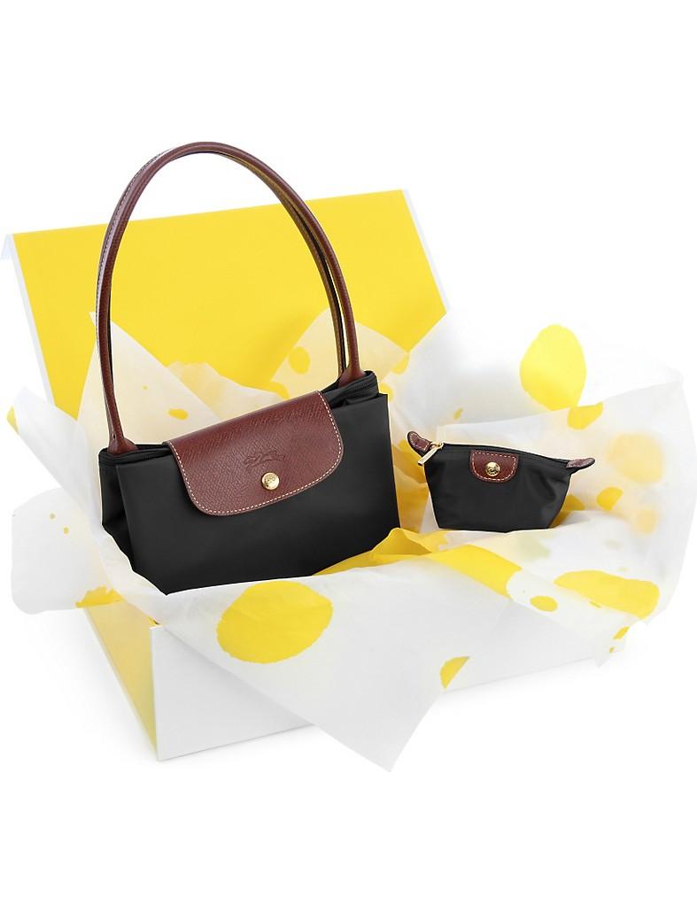 LONGCHAMP - Le Pliage large shopper and coin purse gift set ... f541872de6277