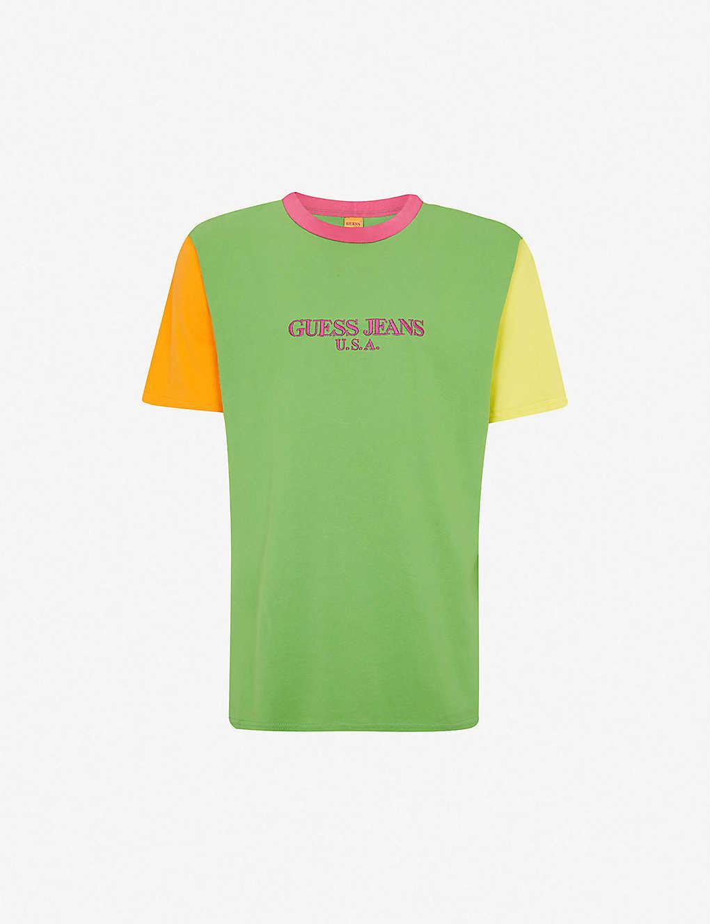 GUESS JEANS USA - Farmers Market colour-blocked cotton-jersey T ... 5b12d106f43b
