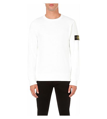 badge-logo-cotton-sweatshirt by stone-island