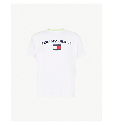 Logo Print Cotton Jersey T Shirt by Tommy Jeans